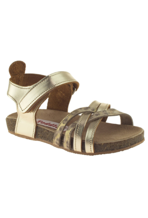 Toddler 4679 Tek Cırt Altın Çocuk Sandalet