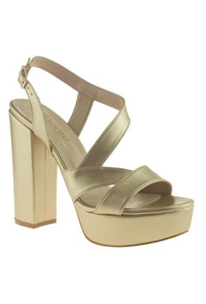 Alisolmaz 3134 Apartman Topuk Altın Kadın Abiye Ayakkabı