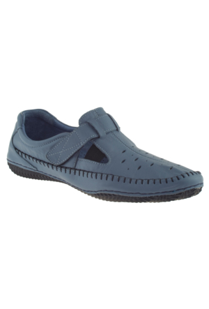 Estile 101-035 Tek Cırt Mavi Kadın Ayakkabı