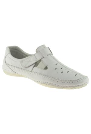 Estile 101-035 Tek Cırt Beyaz Kadın Ayakkabı