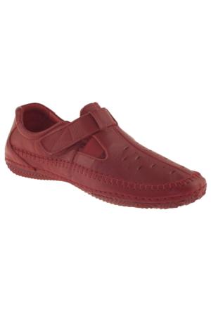 Estile 101-035 Tek Cırt Kırmızı Kadın Ayakkabı
