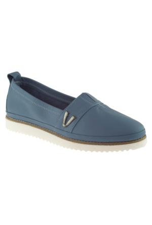 Estile 101-59 Casual Mavi Kadın Ayakkabı