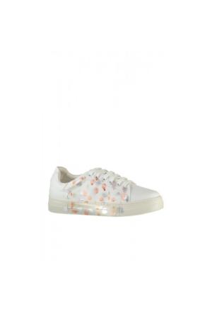 Elle Maculato Kadın Ayakkabı - Beyaz - Gümüş