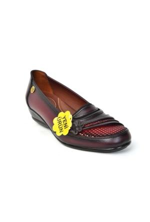 Gökçen 226 %100 Deri Lazerli Ortopedik&Günlük Anne Ayakkabı