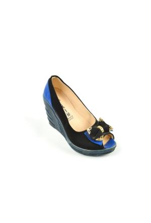 İlkim ZN 146 Dolgu Topuk Önü Açık Bayan Ayakkabı