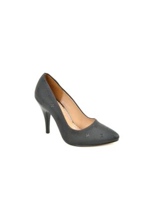 İlker Platform ZN Bayan Baskılı Stiletto Ayakkabı
