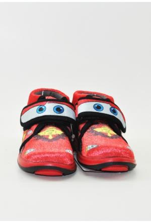 Cars Şimşek Mcqueen Erkek Çocuk Panduf Ev Ve Anaokulu Ayakkabısı