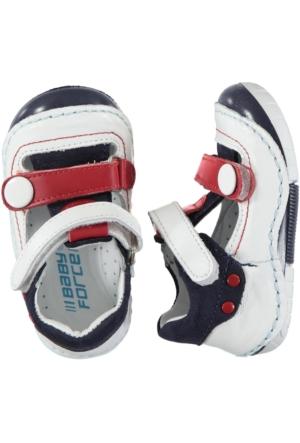 Baby Force İlk Adım Ayakkabısı 19-23 Numara Beyaz-Kırmızı