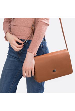 David Jones Kadın Flap Askılı Çanta Kahverengi