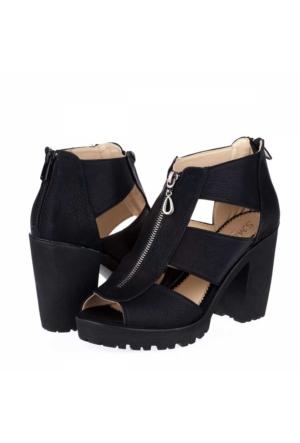 Sms Kadın Platform Topuklu Ayakkabı
