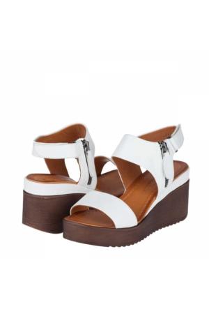 Mammamia Kadın Dolgu Topuklu Sandalet
