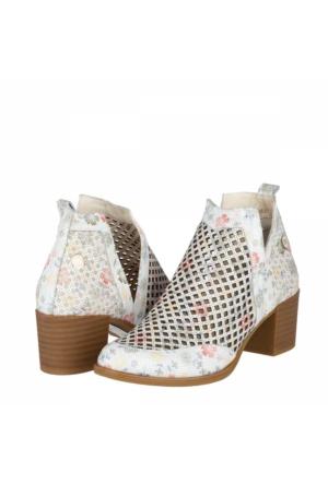 Mammamia Kadın Topuklu Ayakkabı Beyaz