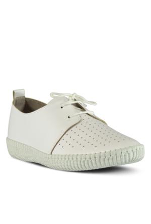 Marjin Lesal Düz Ayakkabı Beyaz