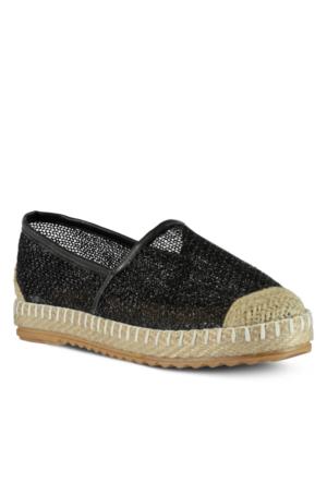 Marjin Venta Düz Espadril Ayakkabı Siyah