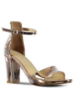 Marjin Azarin Topuklu Ayakkabı Altın