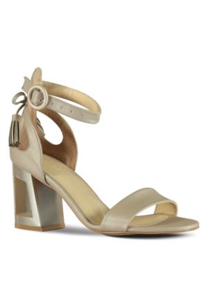 Marjin Lente Topuklu Ayakkabı Bej