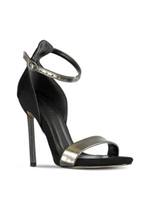 Marjin Cenla Topuklu Ayakkabı Platin