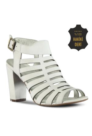 Marjin Eylino Topuklu Ayakkabı Beyaz