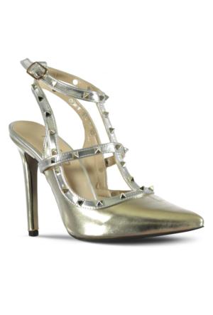 Marjin Vanis Topuklu Ayakkabı Altın
