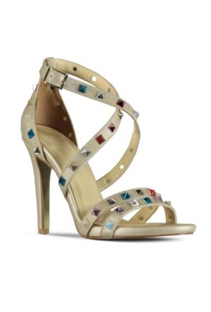 Marjin Valeni Topuklu Ayakkabı Altın