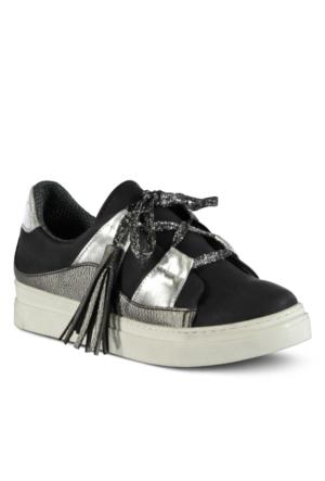 Marjin Zera Düz Spor Ayakkabı Siyah