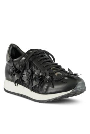 Marjin Cuda Düz Spor Ayakkabı Siyah