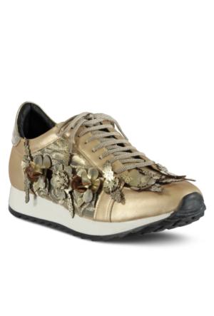 Marjin Cuda Düz Spor Ayakkabı Altın