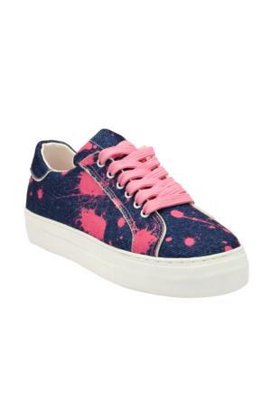 Ayakkabı - Lacivert Fuşya - Zenneshoes