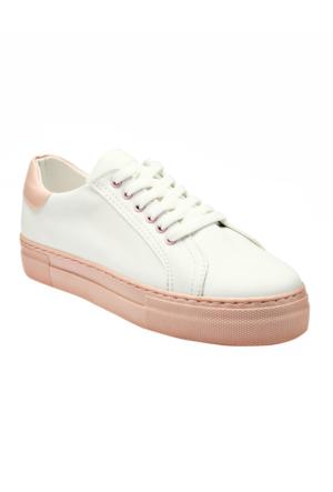 Ayakkabı - Beyaz Pudra - Zenneshoes