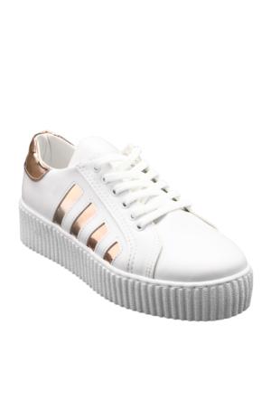 Ayakkabı - Beyaz Rose - Zenneshoes
