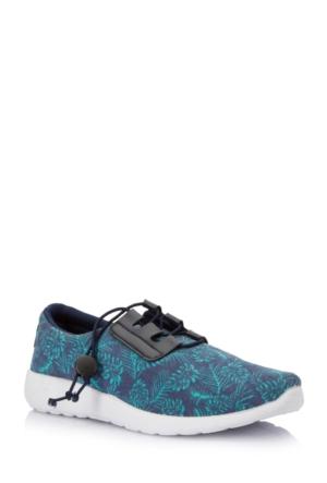 DeFacto Kadın Desenli Ayakkabı Lacivert