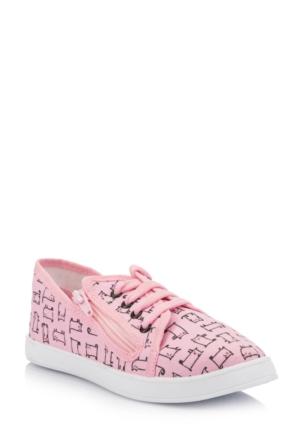 DeFacto Kız Çocuk Fermuar Detaylı Ayakkabı Pembe