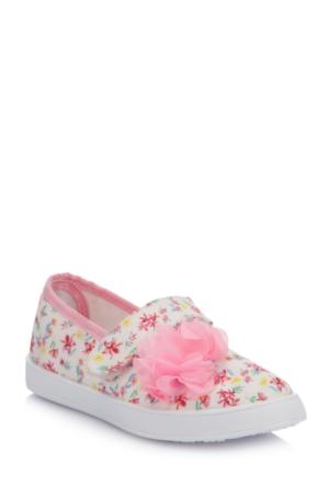 DeFacto Kız Çocuk Çiçek Desenli Ayakkabı Pembe