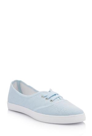 DeFacto Kadın Desen İşlemeli Yazlık Ayakkabı Açık Mavi