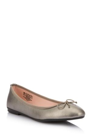 DeFacto Kız Çocuk Babet Ayakkabı Gümüş