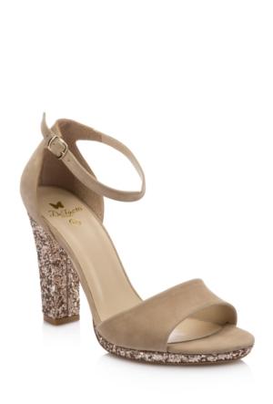 DeFacto Kadın Yüksek Topuklu Tokalı Sandalet Bej