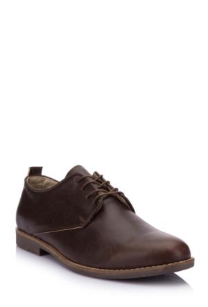 DeFacto Erkek Suni Deri Ayakkabı Kahverengi