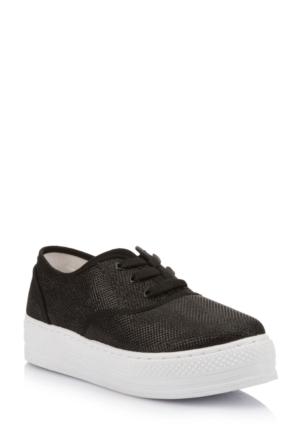 DeFacto Kız Çocuk Yüksek Taban Ayakkabı Siyah