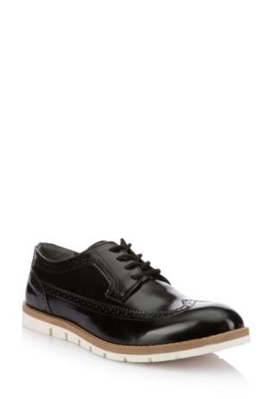 DeFacto Erkek Suni Deri Ayakkabı Siyah