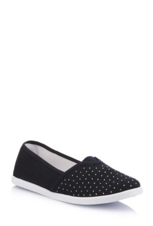 DeFacto Kadın Taş İşlemeli Kanvas Ayakkabı Lacivert