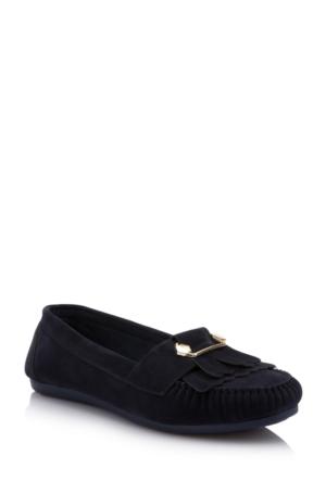 DeFacto Kadın Basic Babet Ayakkabı Lacivert