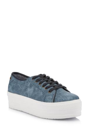 DeFacto Kız Çocuk Platform Taban Ayakkabı Lacivert