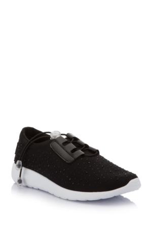 DeFacto Kadın Kalın Taban Spor Ayakkabı Siyah