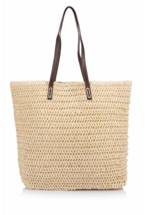 DeFacto Kadın Hasır Çanta Bej
