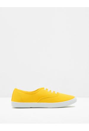 Koton Kadın Bağcıklı Ayakkabı Sarı