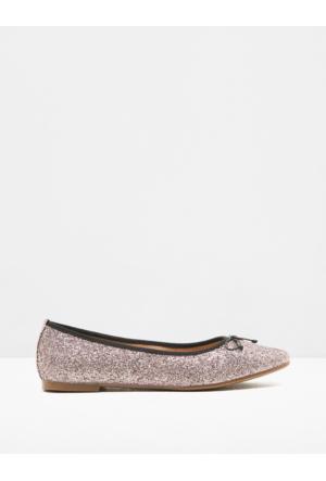 Koton Kadın Simli Detaylı Ayakkabı Pembe