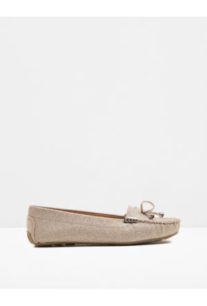 Koton Kadın Fiyonk Detaylı Ayakkabı Pudra