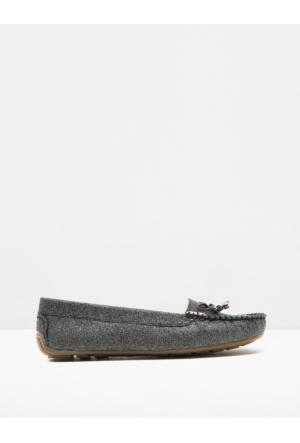 Koton Kadın Fiyonk Detaylı Ayakkabı Siyah