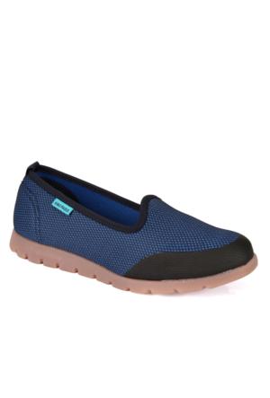 King Paolo 5862 Saks Mavi Günlük Yazlık Kadın Spor Ayakkabı