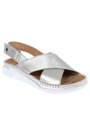 Greyder Gry 51291 Gümüş Hakiki Deri Kadın Spor Ayakkabı